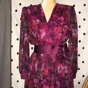 Vintage Lisa Michaels Floral Dress